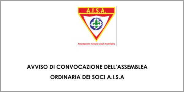 AVVISO DI CONVOCAZIONE DELL'ASSEMBLEA ORDINARIA DEI SOCI A.I.S.A